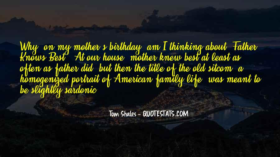 Quotes About Birthday And Family #76218