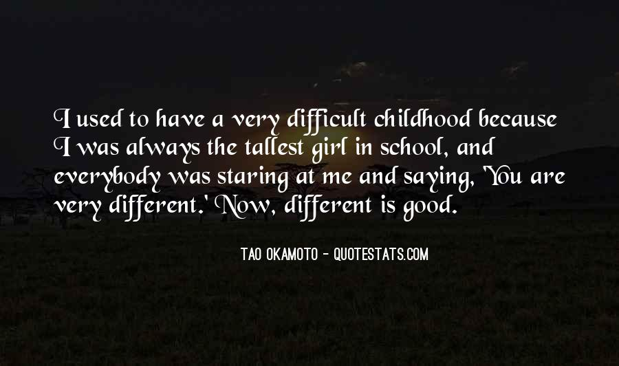 Quotes About Difficult Childhood #952785