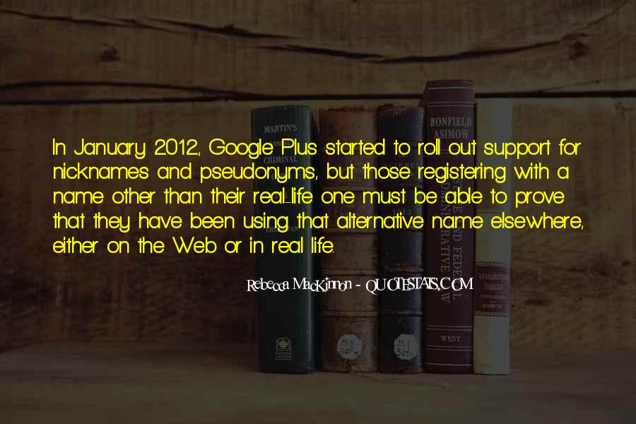 Quotes About Pseudonyms #1096512