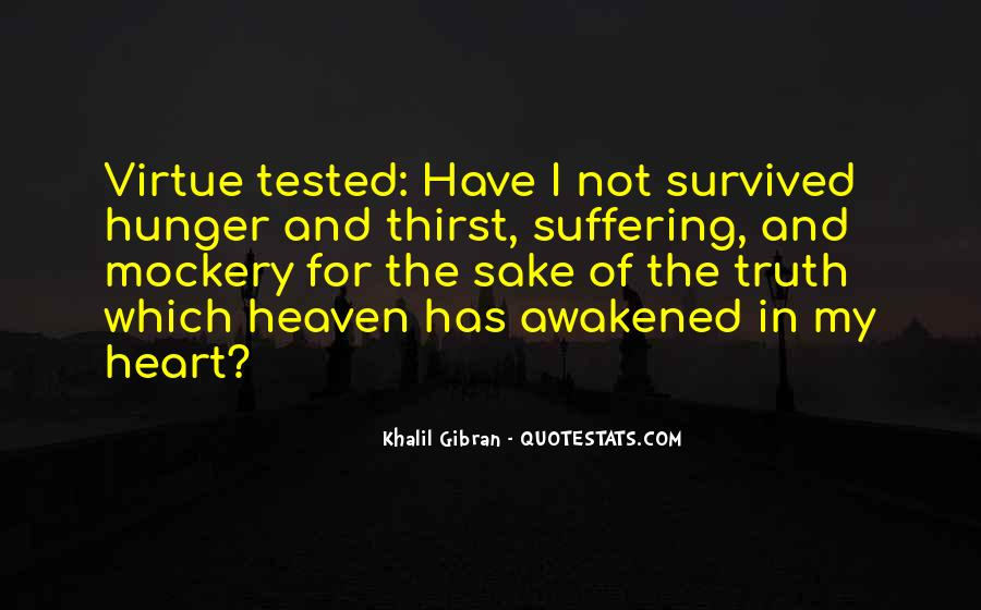 Quotes About Hunger And Thirst #1359028