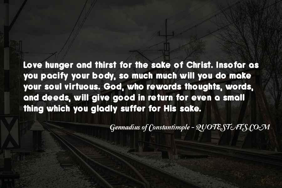Quotes About Hunger And Thirst #147557