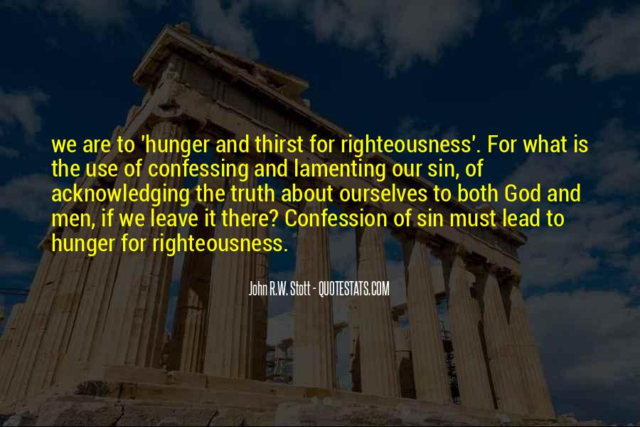 Quotes About Hunger And Thirst #1485816