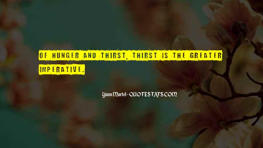 Quotes About Hunger And Thirst #1657134