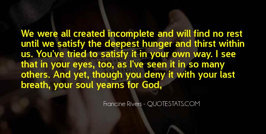 Quotes About Hunger And Thirst #1805528