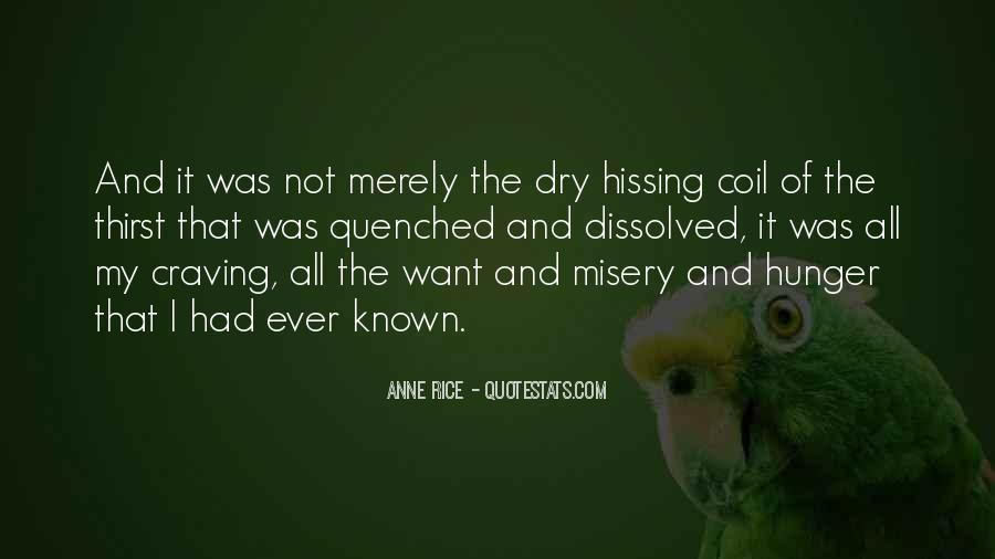 Quotes About Hunger And Thirst #1810851