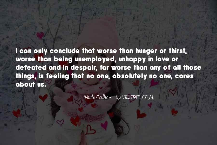 Quotes About Hunger And Thirst #428185