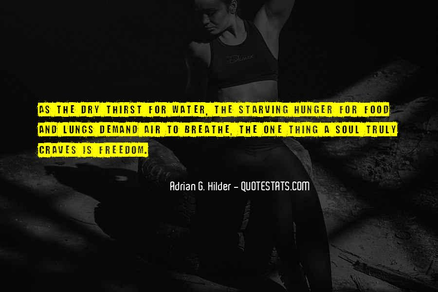 Quotes About Hunger And Thirst #454986