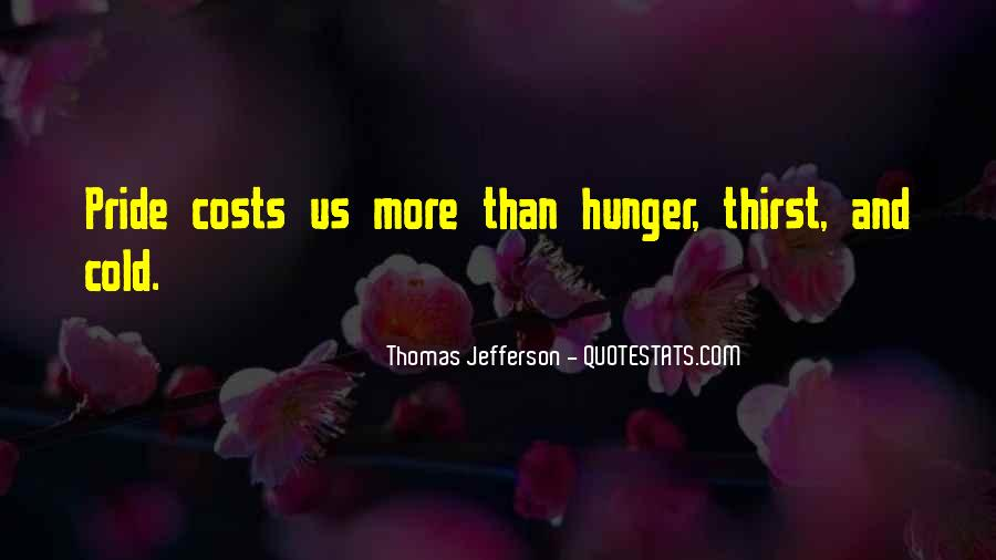 Quotes About Hunger And Thirst #700686