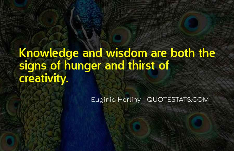 Quotes About Hunger And Thirst #717872