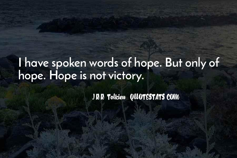 Quotes About Hope Tolkien #1367765