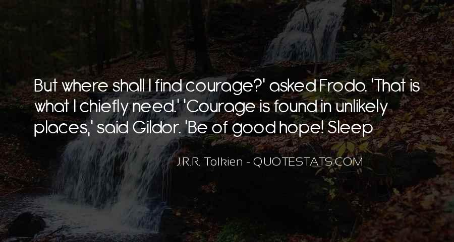 Quotes About Hope Tolkien #1449285