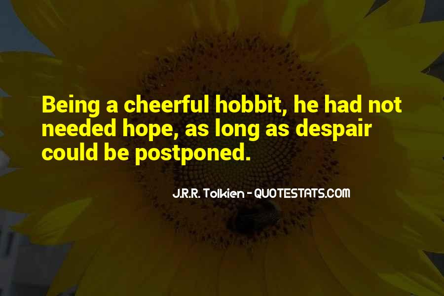 Quotes About Hope Tolkien #174620