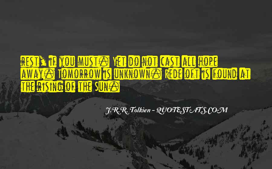 Quotes About Hope Tolkien #467204