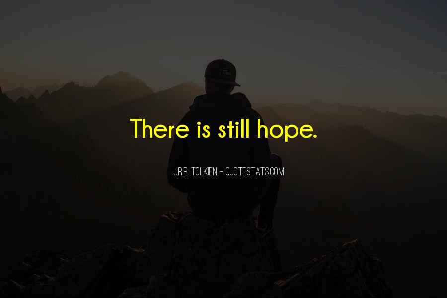 Quotes About Hope Tolkien #515986