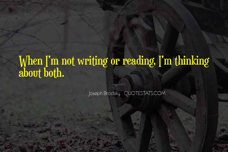 Quotes About Reading Writing And Thinking #475915
