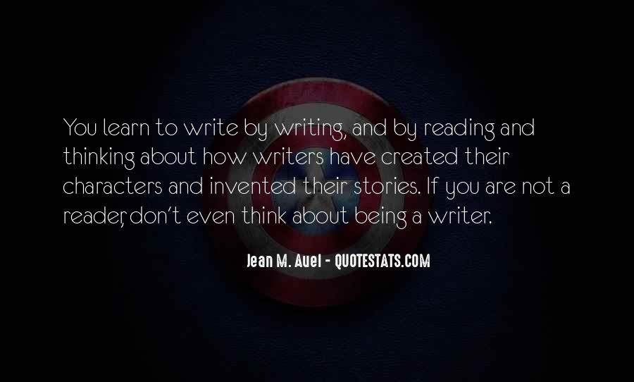 Quotes About Reading Writing And Thinking #512036