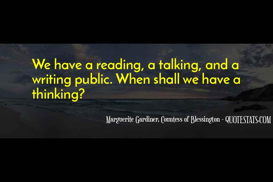 Quotes About Reading Writing And Thinking #943131