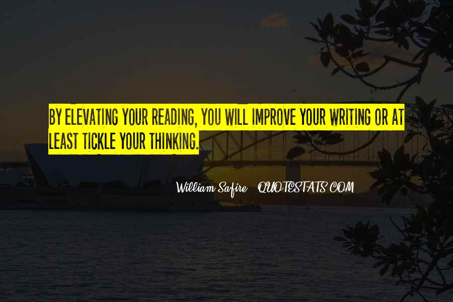 Quotes About Reading Writing And Thinking #945129