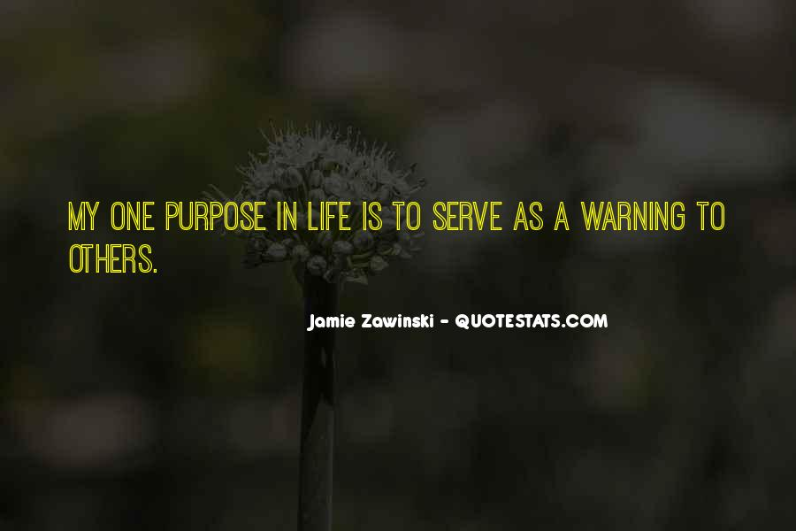Quotes About One's Purpose In Life #281370