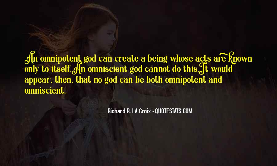 Quotes About God's Omnipotence #1166651