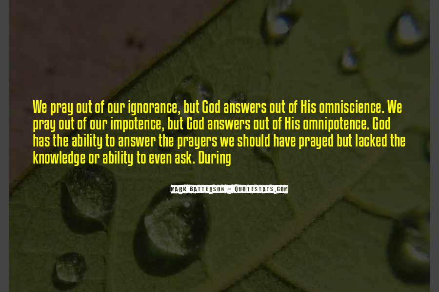 Quotes About God's Omnipotence #210071