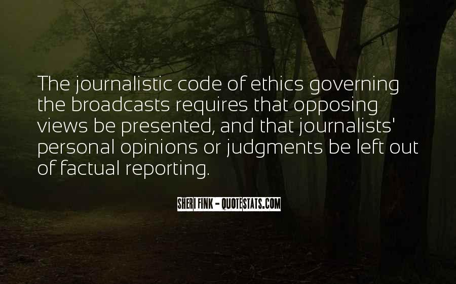 Quotes About Code Of Ethics #1871898