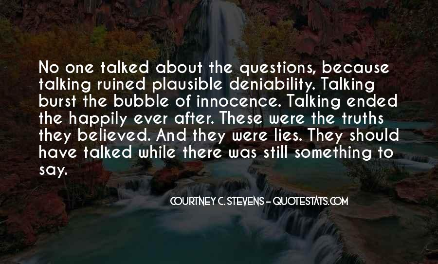 Quotes About Plausible Deniability #1416648