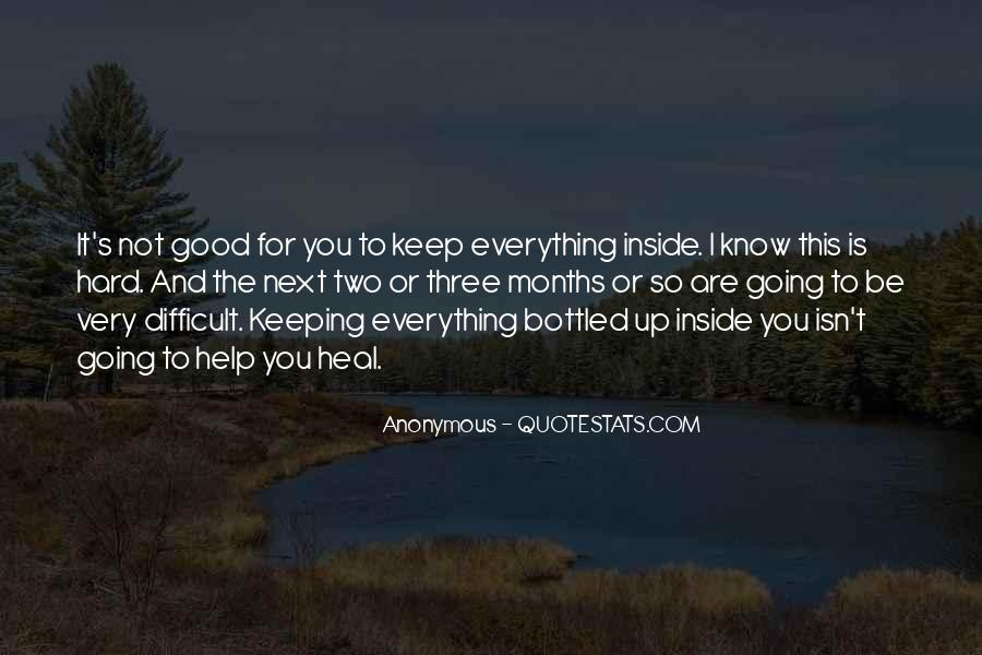 Quotes About Keeping Things Bottled Up #1646264