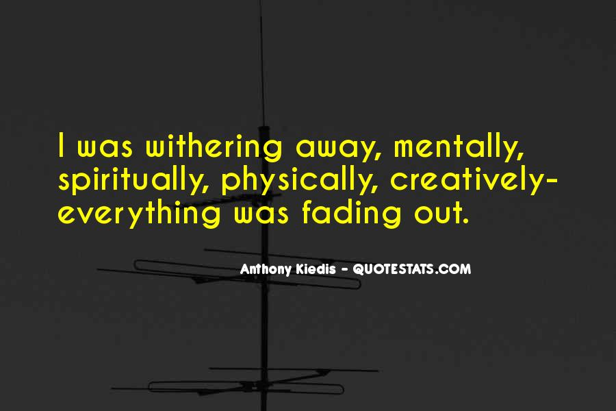 Quotes About Fading #240623