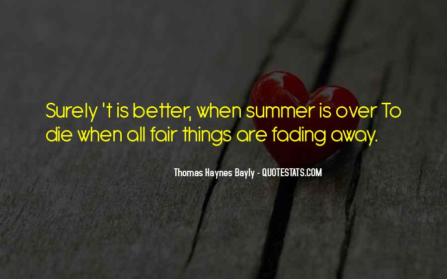 Quotes About Fading #340573