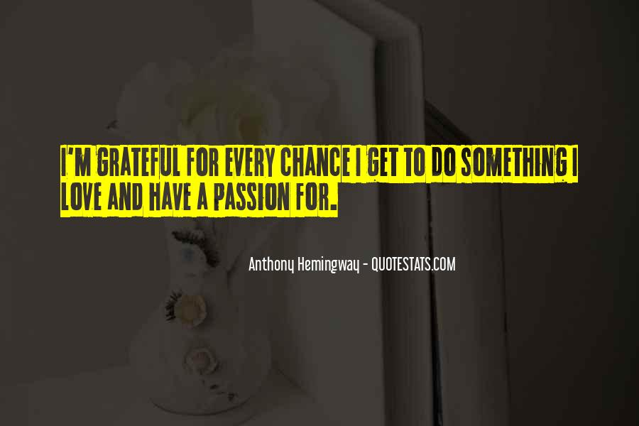 Quotes About Chance And Love #110782