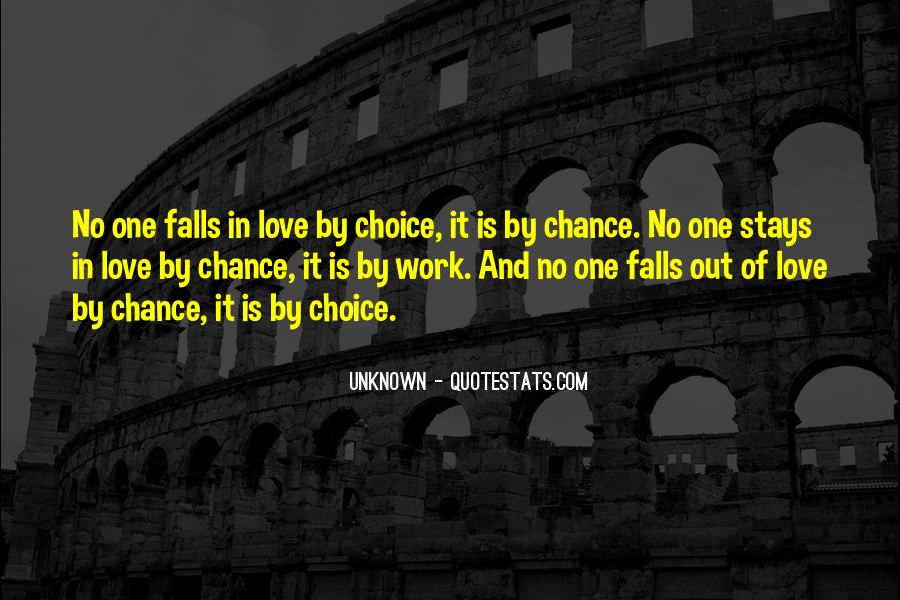 Quotes About Chance And Love #291280