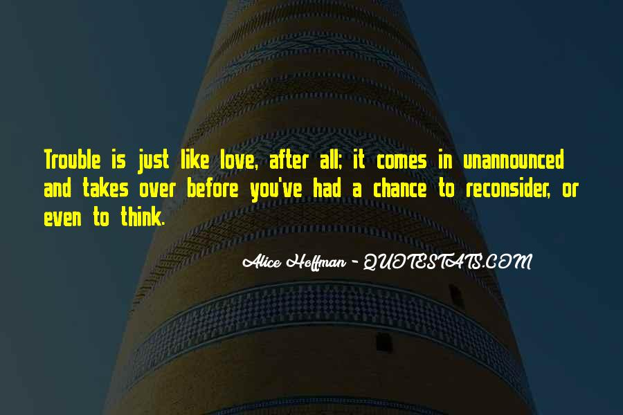 Quotes About Chance And Love #337760