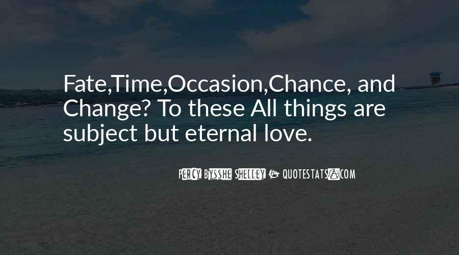 Quotes About Chance And Love #37063