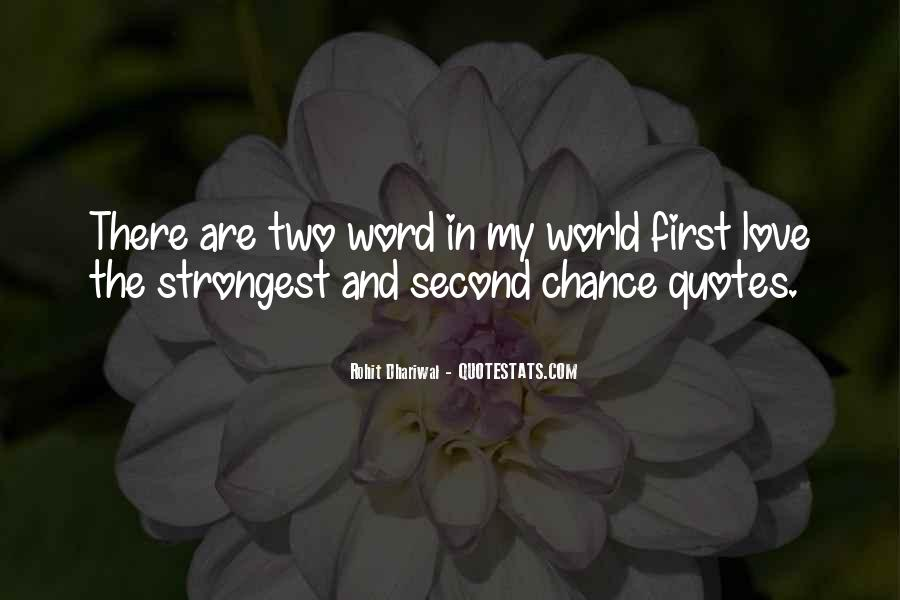 Quotes About Chance And Love #95555