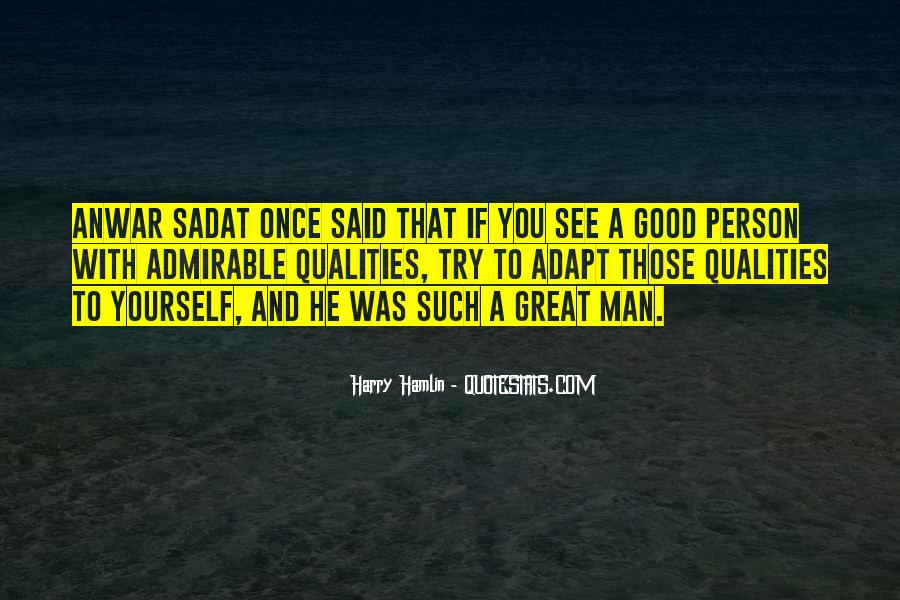 Quotes About Admirable Qualities #1542621