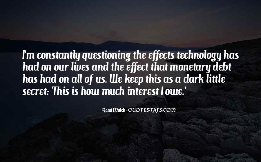 Quotes About Effects Of Technology #1405315