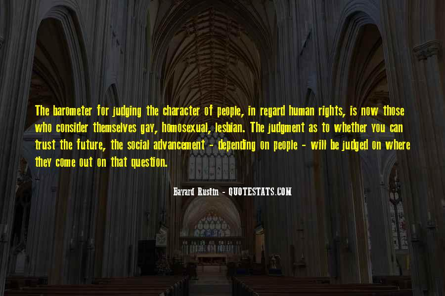 Quotes About Judging One's Character #1001510