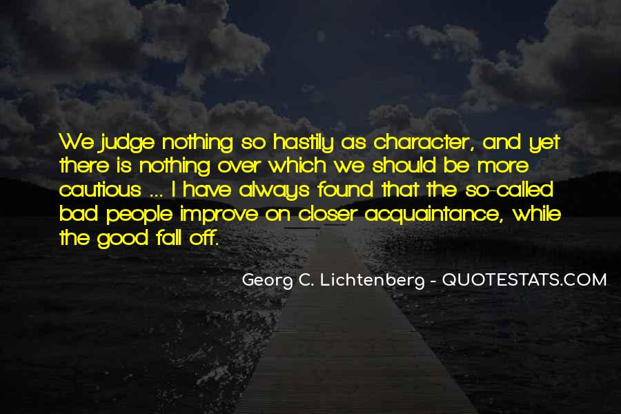 Quotes About Judging One's Character #1331444