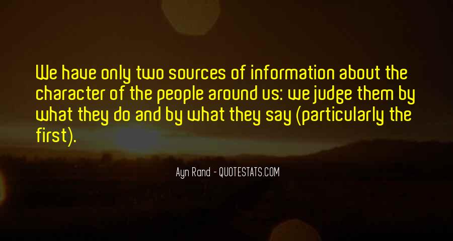 Quotes About Judging One's Character #1335954