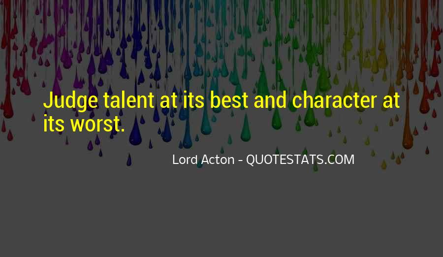 Quotes About Judging One's Character #1353704