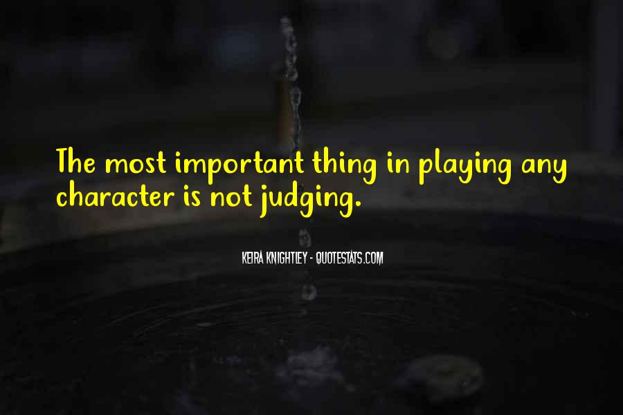Quotes About Judging One's Character #339192