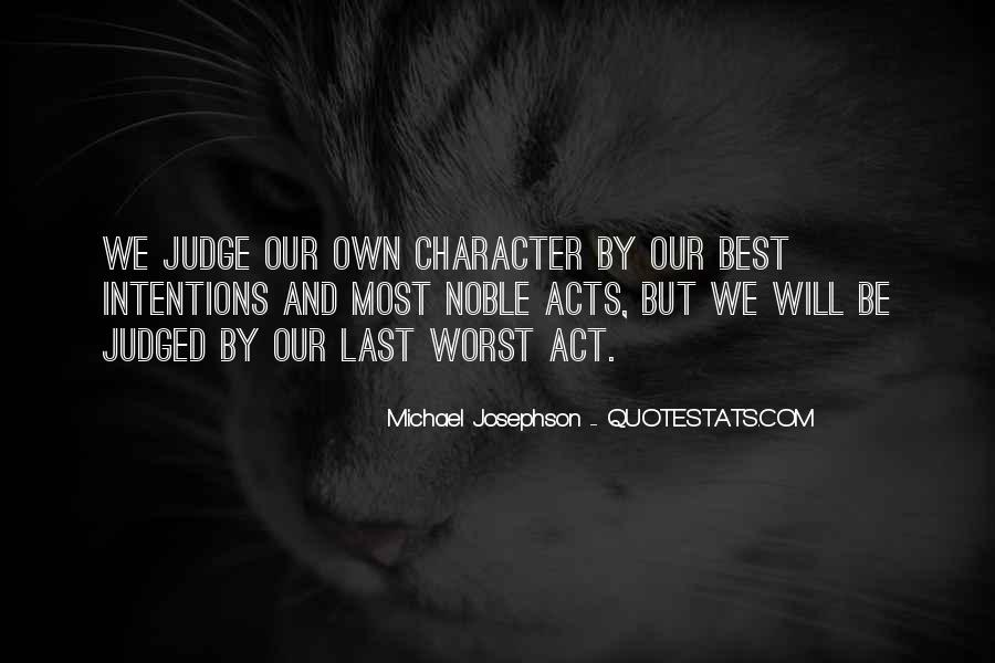 Quotes About Judging One's Character #622617