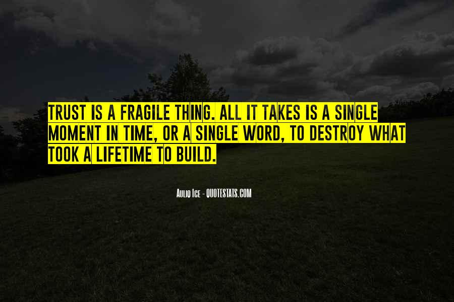 Quotes About Trust Being Fragile #615030