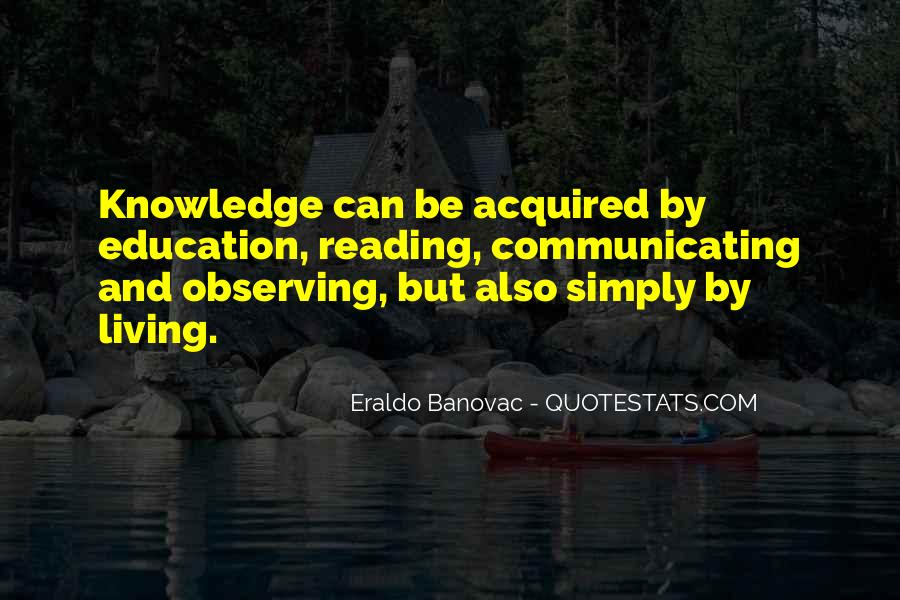Quotes About Knowledge And Reading #102261