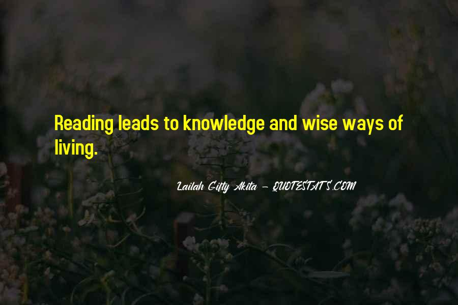 Quotes About Knowledge And Reading #1705393