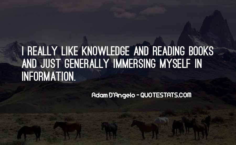 Quotes About Knowledge And Reading #1839368