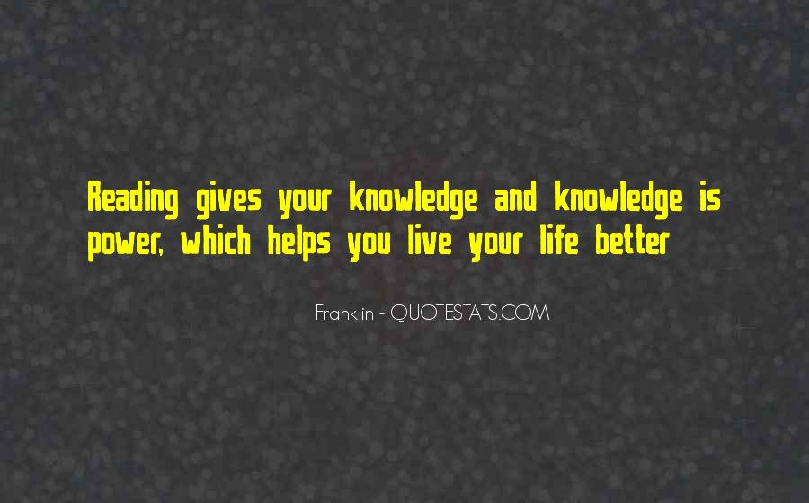 Quotes About Knowledge And Reading #970167