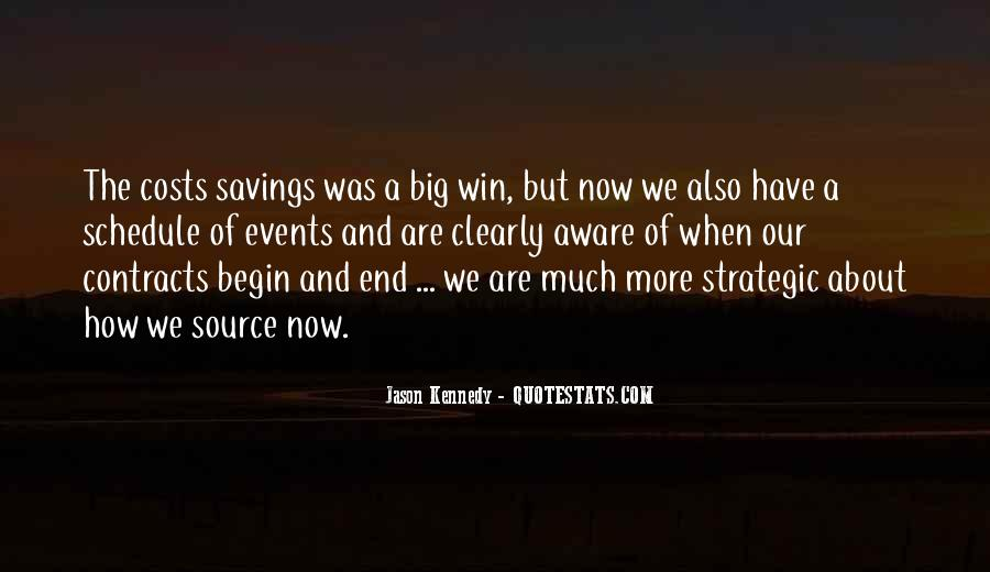 Quotes About Saving Costs #1746319