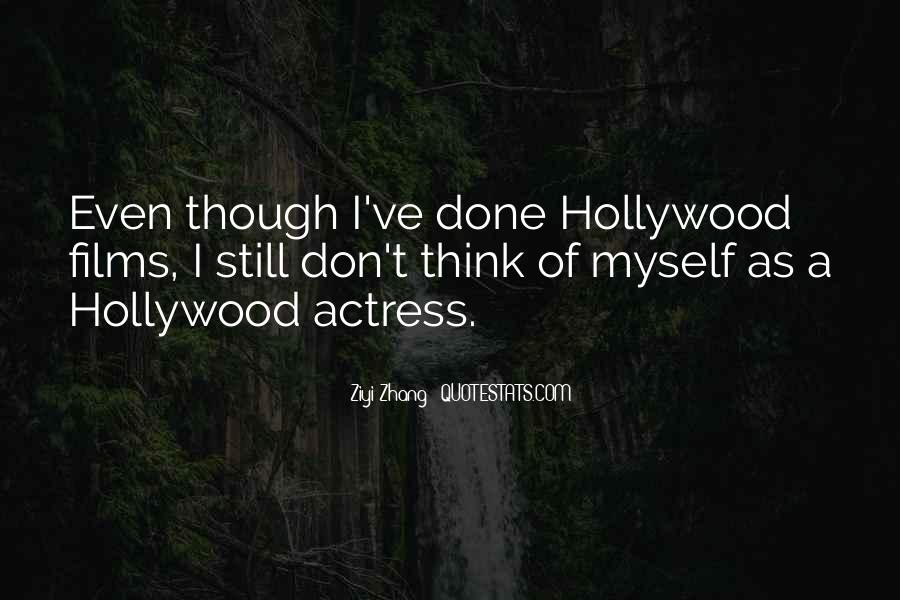 Quotes About Hollywood Films #25341